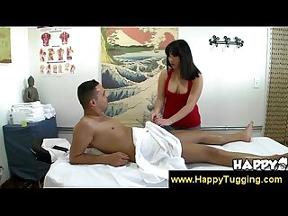 Handjob and blowjob from asian hottie