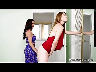 Teen gets huge strap on from mom
