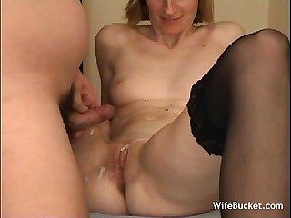 Shy wife first time on camera
