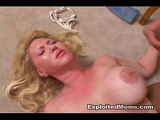 Hot blonde mom w Big tits loves Bbc in this Interracial Video