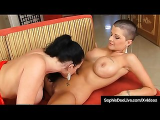 Uk Sophie Dee Brings Shaved Headed Joslyn James To Climax!