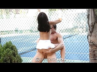 Hd fantasyhd little dillion harper gets fucked on the tennis court