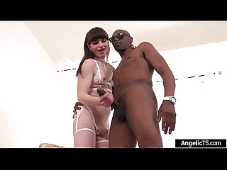 Tranny Natalie mars is barebacked by Bbc