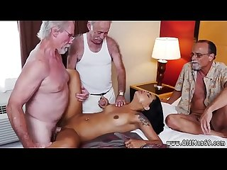 Old man fuck girl first time staycation with a latin hottie