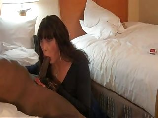 Sexy cross dresser fucks big black cock