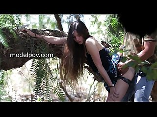 Amy petite cheating girlfriend gets surprise creampie woods modelpov com