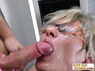 Cum on granny compilation p1