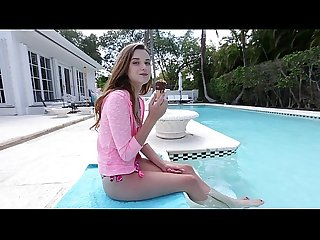 bangbros barely legal petite cutie drilled by the pool