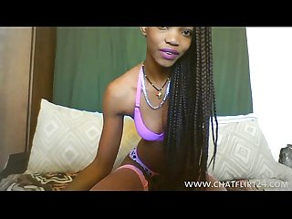 Skinny African teen webcam