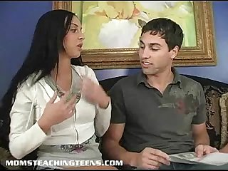 Busty mrs lucky teaches tiny teen stephanie how to fuck like A slut