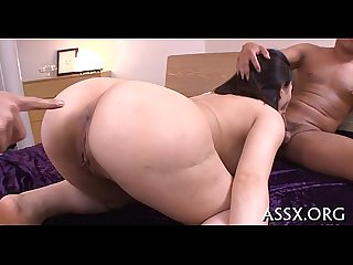 Amazing japanese anal riding