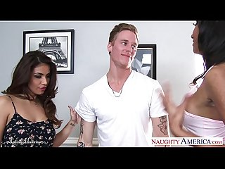 Latin cuties isabella de santos and sadie santana fuck in threesome
