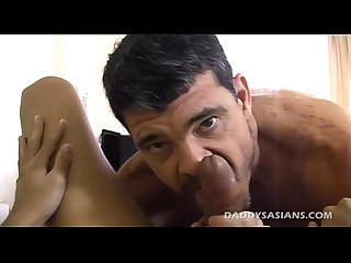 Big daddy mike fucks cute asian twink kim
