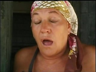 Old woman fucked in the farm of shame excl