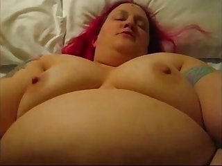 Lauren Fat Whore, Creampie, thanks to broken condom!