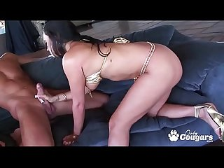 Claudia Valentine Gets A Facial From An Average Sized Dick