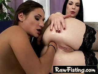 alicia ramming her entire fist in Stacy's ass