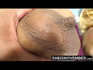 White man cheating on wife with young ebony msnovember rub big tits ass pussy hd sheisnovember