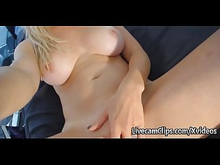 Damn Sexy Blonde MILF Fuck Doll Riding On Webcam