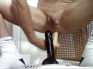Bi doing double anal with toys