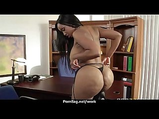 Big boobed office executive fucks her new employee 7