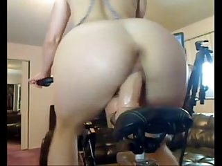 Blonde in a bicycle fucking machine more cams at camshub net