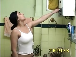 Mature indian milf masturbating in shower fucking her pussy