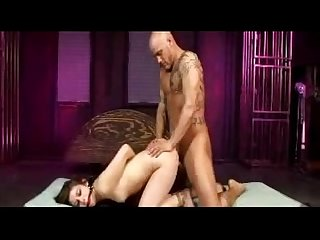 Slim girl tied arms and legs mouthgag getting her pussy fucked cum to mouth on the mattress in the d