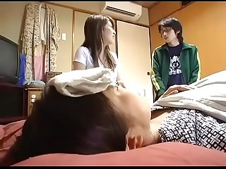 When the asian japanese boy scrub girlfriend S mother body he fucks her pt2 on filfcam com