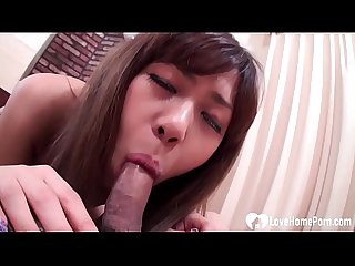 Stripped Asian sucks and rides a raging boner