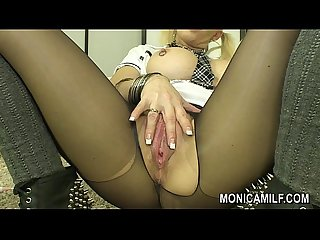Monicamilf orgasm in black nylons hot norwegian porn