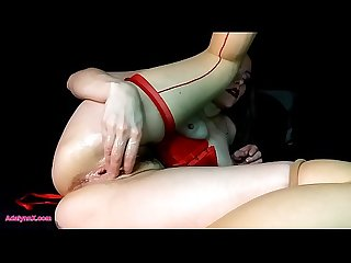 AdalynnX - Stretching My Pussy With Metal Balls