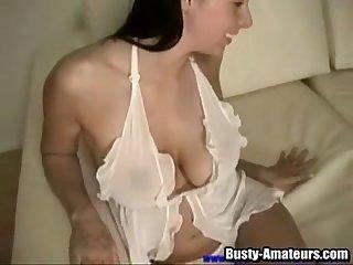 Brunette cutie gianna enjoys a passionate toys