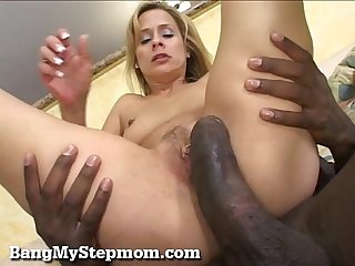 Horny stepmom has a craving for big black dick excl