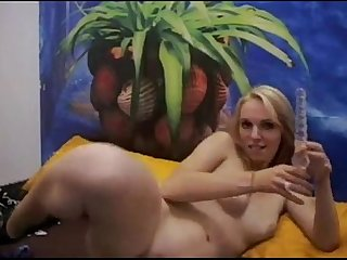 German blonde fucks her juicy sticky pussy on cam combocams com