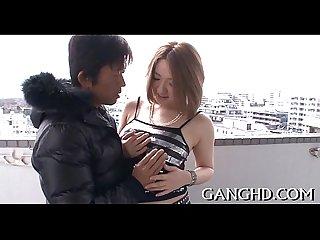 Sensational japanese gangbang