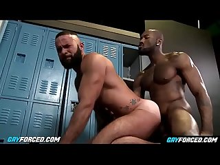 Gayforced com big black gay dick anal destroy white ass after training