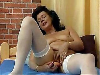 German mature and her toy
