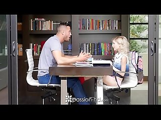 PASSION-HD Tiny blonde Piper Perri fucks her big dick tutor