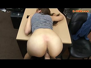 Brunette sweetie drilled at the pawnshop