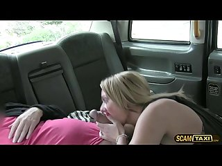 Mature milf gets her pussy rammed hard inside the taxi