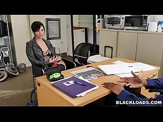 White girl sydney sky takes a big black load blk14860