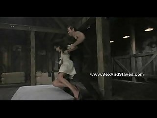 Brunette babe in nasty brutal bdsm sex