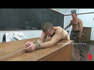 Leather master spanking gay sex slave