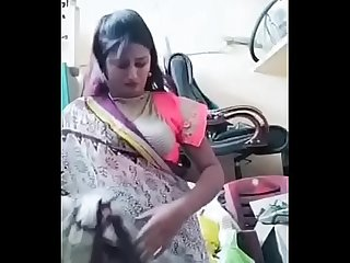 Swathi naidu exchanging dress and getting ready for shoot part-2