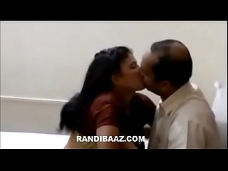 Indian wife pleasing her hubby boss for his premossion