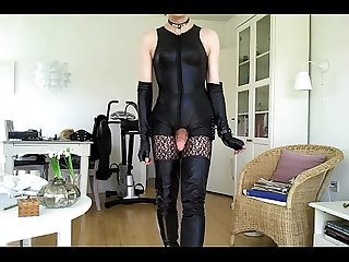 Sissy sexy thigh high boots 01