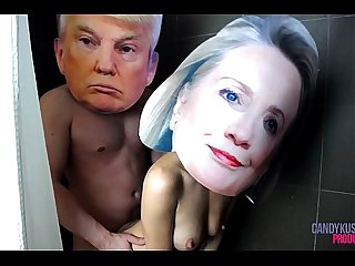 Donald trump and hillary clinton real celebrity sex tape exposed xxx