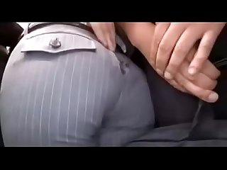 After Asian office-lady's pants were torn on the bus, she get molested - ReMilf.com