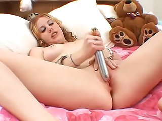 Young nasty Girl with her dildo